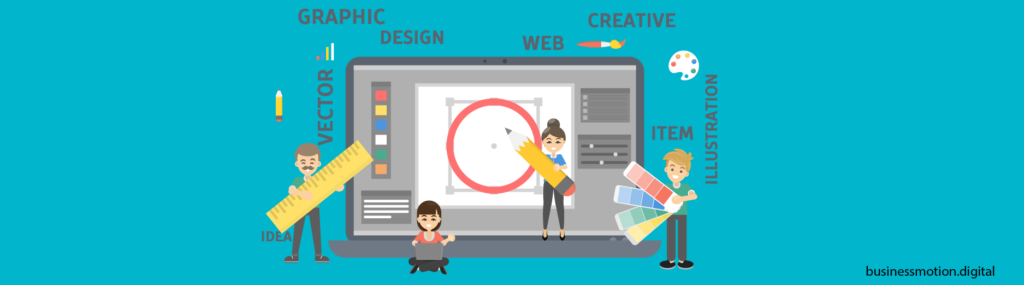 Creativity is a core component in graphic design - Business motion