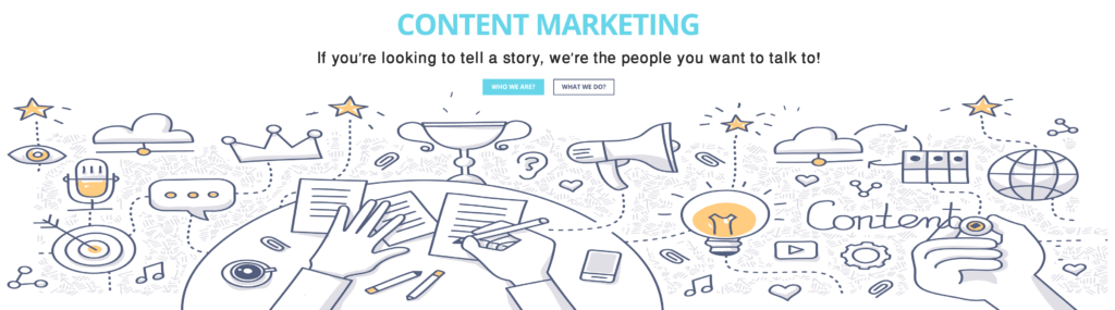 Storytelling and content marketing for brands- Business motion